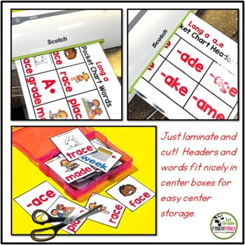 Phonics and Word Family Pocket Chart Activities BUNDLE