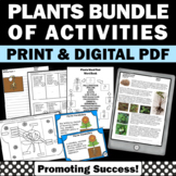 Plants Unit BUNDLE Plant Life Cycle Parts of a Flower Interactive Notebooks