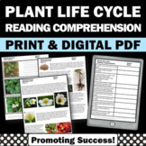 Plant Life Cycle Worksheets, Strawberries,  Science Reading Comprehension