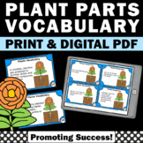 Plant Activities and Games with Task Cards, Science Vocabulary Cards