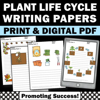 Plants Writing Papers for Earth Science Centers Activities