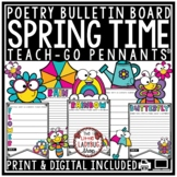 Print & Digital March, April Spring Poetry Writing Bulletin Board Acrostic Poem