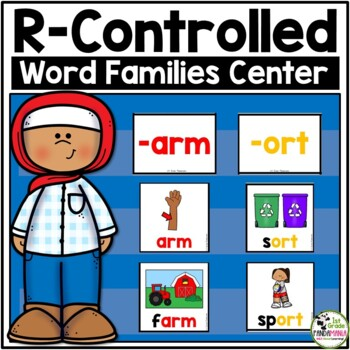 R-Controlled Word Family Pocket Chart Center Activity