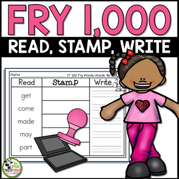 Fry Sight Words Read, Stamp, Write Literacy Centers ALL 1,000 Fry Words