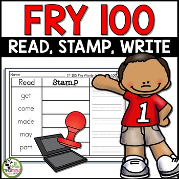 Read, Stamp, Write Fry Words Centers for First 100 Fry Sight Words!