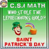 St Patrick's Day Math: C.S.I. Math Activity - Who Stole th
