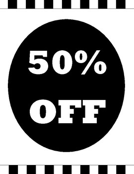 50% Off Sale Sign
