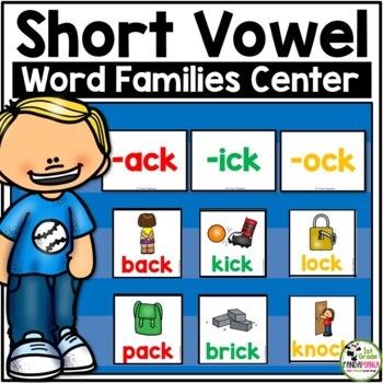 Short Vowel Word Family Pocket Chart Center Activity