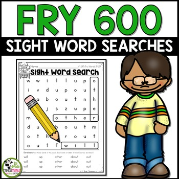 Sight Word Searches 600 Fry Words