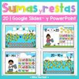 Sumas y restas a 20 para Google™ | Addition and Subtraction to 20 Spanish Spring