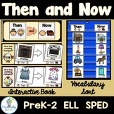 Thanksgiving Then and Now Adapted Book and Vocabulary Sort