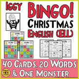 Christmas Bingo for English Learners. ELL Holidays Around the World with Games!
