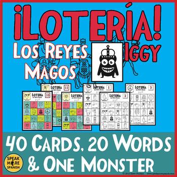 Celebrate Spanish Holidays with Los Reyes Magos Bingo in Spanish. La Lotería