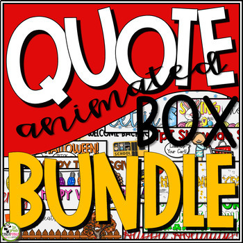 TpT Store Banner Animated Quote Box Holiday and Seasonal BUNDLE