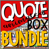TpT Store Animated Quote Box Holiday and Seasonal Banner BUNDLE