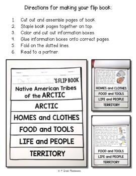 Arctic Native American Tribes FLIP Book