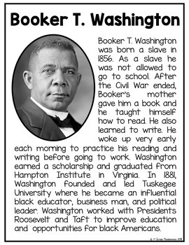 Black History FLIP Book with FREE Biography Posters Included