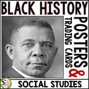 Black History Portrait, Biography Posters and Trading Cards