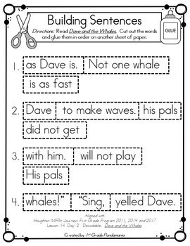 Building Sentences With 1st Grade Decodable Readers Bundle HMH Aligned