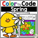 Spring Color By Number Spring Math Activities (1st - 2nd Grades)