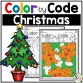 Christmas Color by Number Christmas Math Activities (K - 2nd Grades)