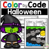 Halloween Color by Number Halloween Math Activities (1st - 2nd Grade)