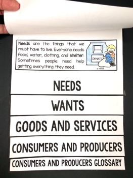 Producers and Consumers in My Community: 1st Grade Economics FLIP Book