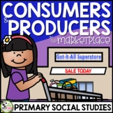 Producers and Consumers in My Community: 1st Grade Economics Unit plus FLIP Book