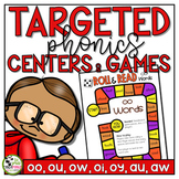Diphthong and Variant Vowels Games and Centers Phonics Activities
