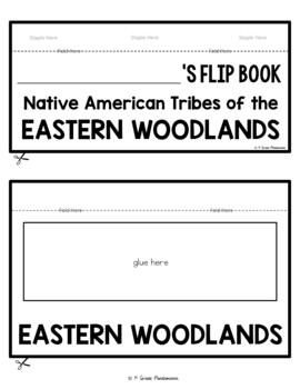 Native Americans Eastern Woodlands Tribes FLIP Book