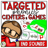 Ending Sounds Centers and Games Phonics Activities