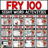 Fry Sight Words First 100 Fry Words Big Bundle