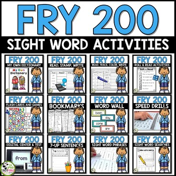 Fry Sight Words First 200 Fry Words Big Bundle