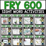 Fry Sight Words First 600 Fry Words Big Bundle