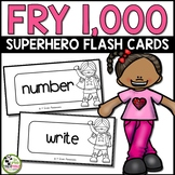 Fry Sight Words Flash Cards (Super Hero) for All 1,000 Fry Words