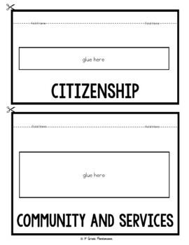 Good Citizenship and Community: A 1st Grade Civics FLIP Book