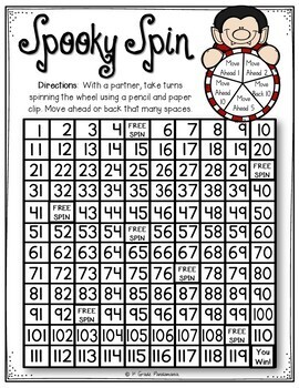 Halloween Print and Play Math Games and Centers