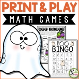 Halloween Math Games Print and Play and Math Centers
