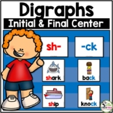 Initial and Final Digraphs Pocket Chart Learning Centers Activity
