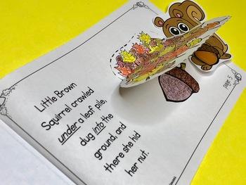 Little Brown Squirrel Hides a Nut Pocket Puppet Book