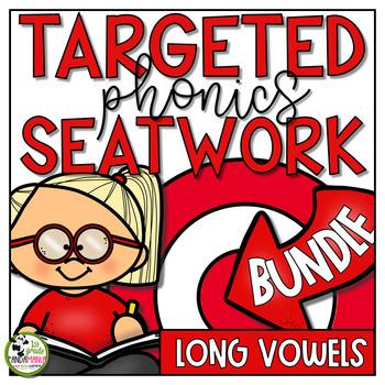 Long Vowel Worksheets Phonics Activities BUNDLE
