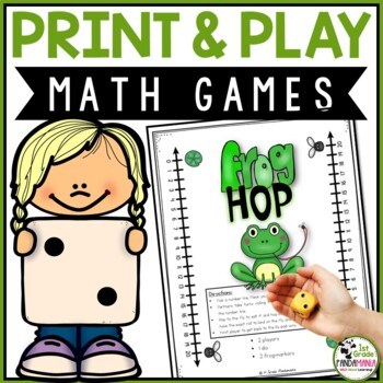 Math Games and Centers Print and Play Pack Grades K-2