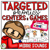 Middle Sounds Centers and Games Phonics Activities