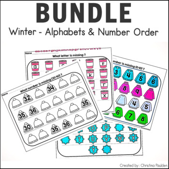 Missing Letters and Numbers Winter Bundle