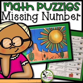 Missing Number Math Picture Puzzle Centers for K-2