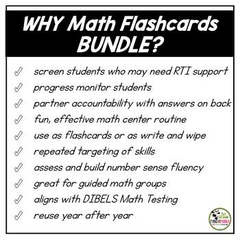 Number Sense Flash Cards BUNDLE