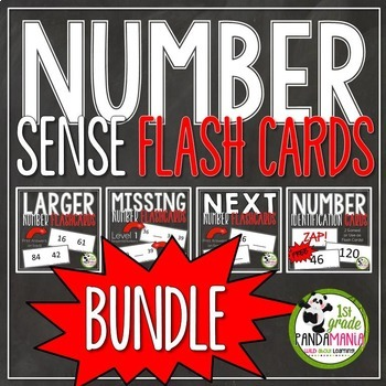 Number Sense Flash Cards BUNDLE