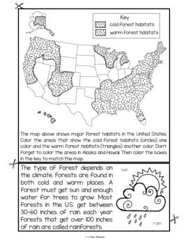 Forest Habitat Flip Book