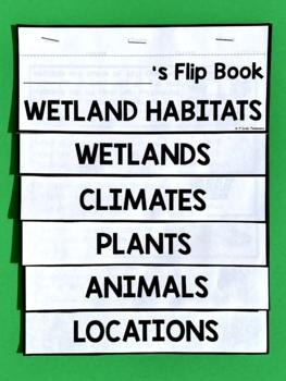 Wetlands Habitat Flip Book