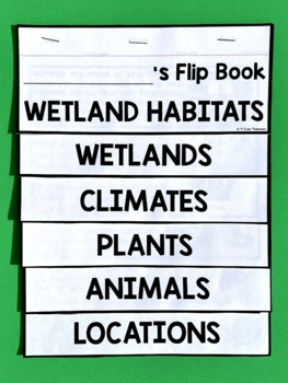 Wetlands Habitat Flip Book